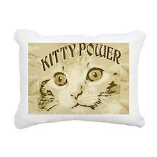 Kitty Power Rectangular Canvas Pillow
