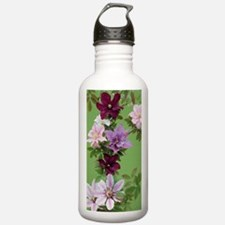 Mixed clematis flowers Water Bottle