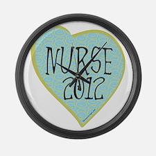 Nurse 2012 Heart Large Wall Clock