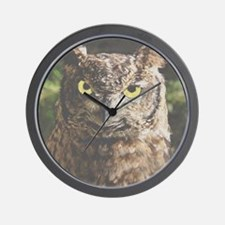 Hypnotic Owl Wall Clock