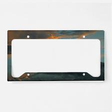 Sunset Storm Clouds License Plate Holder