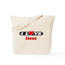 I Love Issac Tote Bag