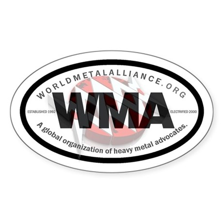 "WMA ""International Oval"" Auto Sticker"