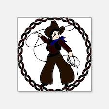 """Cowgirl Square Sticker 3"""" x 3"""""""