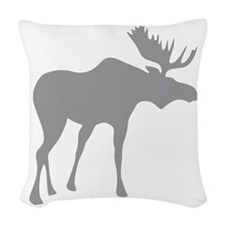 Grey Moose Woven Throw Pillow