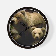 Momma Bear and Cub Wall Clock