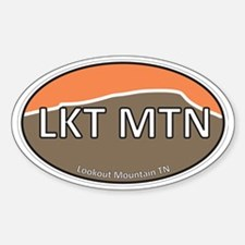 Lookout Mountain TN Brown & Orange  Decal