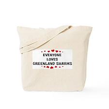 Loves: Greenland Sharks Tote Bag