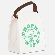 Trophy Wife Since 2013 green Canvas Lunch Bag