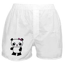 Girl Panda Boxer Shorts