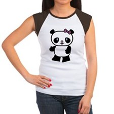 Girl Panda Women's Cap Sleeve T-Shirt