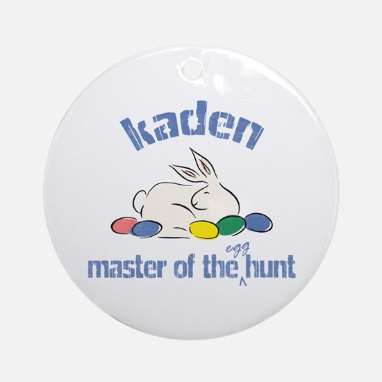 Easter Egg Hunt - Kaden Ornament (Round)