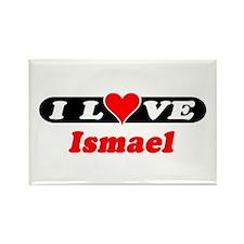 I Love Ismael Rectangle Magnet