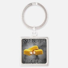 Remember The Twinkies Square Keychain