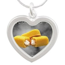Remember The Twinkies Silver Heart Necklace