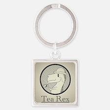 Tea Rex Square Keychain