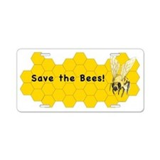 Save the Bees! Aluminum License Plate