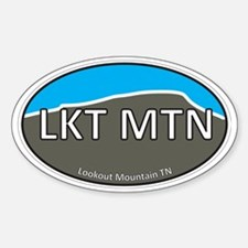 Lookout Mountain TN Grey & Blue Eur Decal