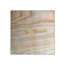 """Chic Wood Grain Unique Desi Square Sticker 3"""" x 3"""""""