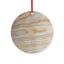 Chic Wood Grain Unique Designer Round Ornament