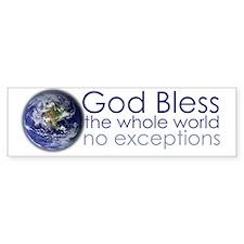 GodBlessTheWholeWorld-mug Bumper Sticker
