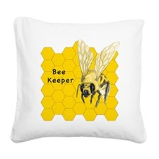 Bee Keeper Square Canvas Pillow