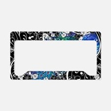 Peacock Garden Trio Tray License Plate Holder