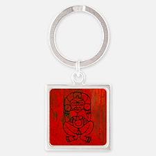 Atabey, Taino Goddess Square Keychain
