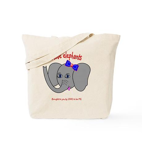 I LOVE ELEPHANTS - LOVE TO BE ME Tote Bag