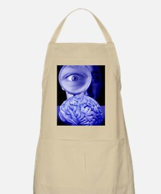 Studying the brain, conceptual image Apron