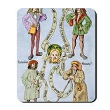 The four humours, 16th century artwork Mousepad
