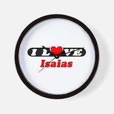 I Love Isaias Wall Clock