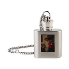 dad and leah Flask Necklace