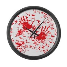 blood stain Large Wall Clock