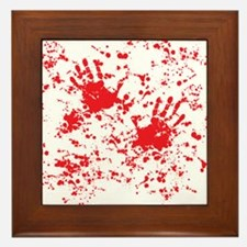 blood stain Framed Tile