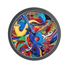 Night Life Guitar Music Wall Clock