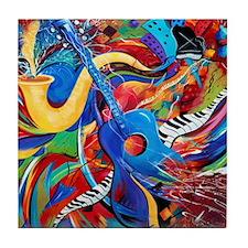 Night Life Guitar Music Tile Coaster