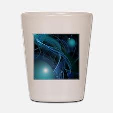 Fractal Flame: Blue Planets Shot Glass