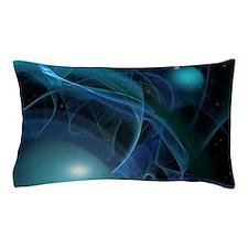 Fractal Flame: Blue Planets Pillow Case