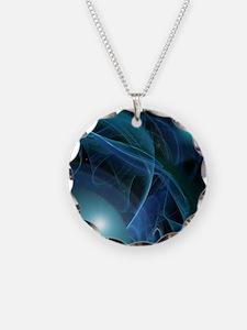 Fractal Flame: Blue Planets Necklace