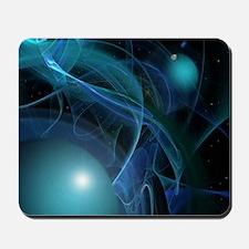 Fractal Flame: Blue Planets Mousepad