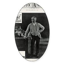 Thomas Edison, US inventor Decal