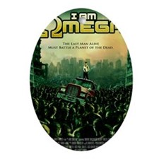 I Am Omega Poster Oval Ornament