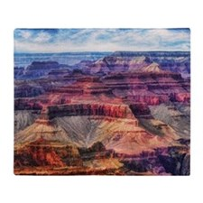 red grand canyon Throw Blanket