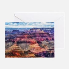 red grand canyon Greeting Card