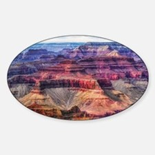 red grand canyon Sticker (Oval)