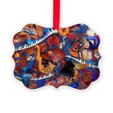Music Madness Guitar Piano Saxoph Ornament