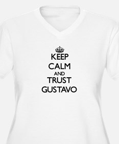 Keep Calm and TRUST Gustavo Plus Size T-Shirt