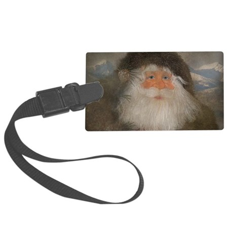 Mountain Santa Large Luggage Tag