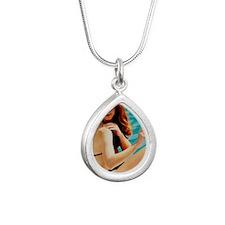 Sunbathing Silver Teardrop Necklace